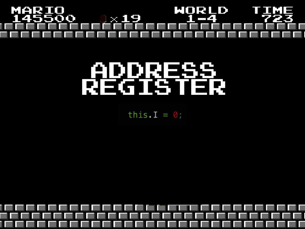 address register
