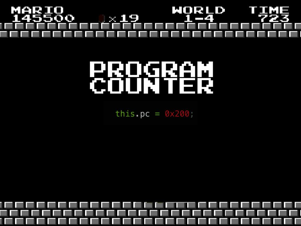 program counter