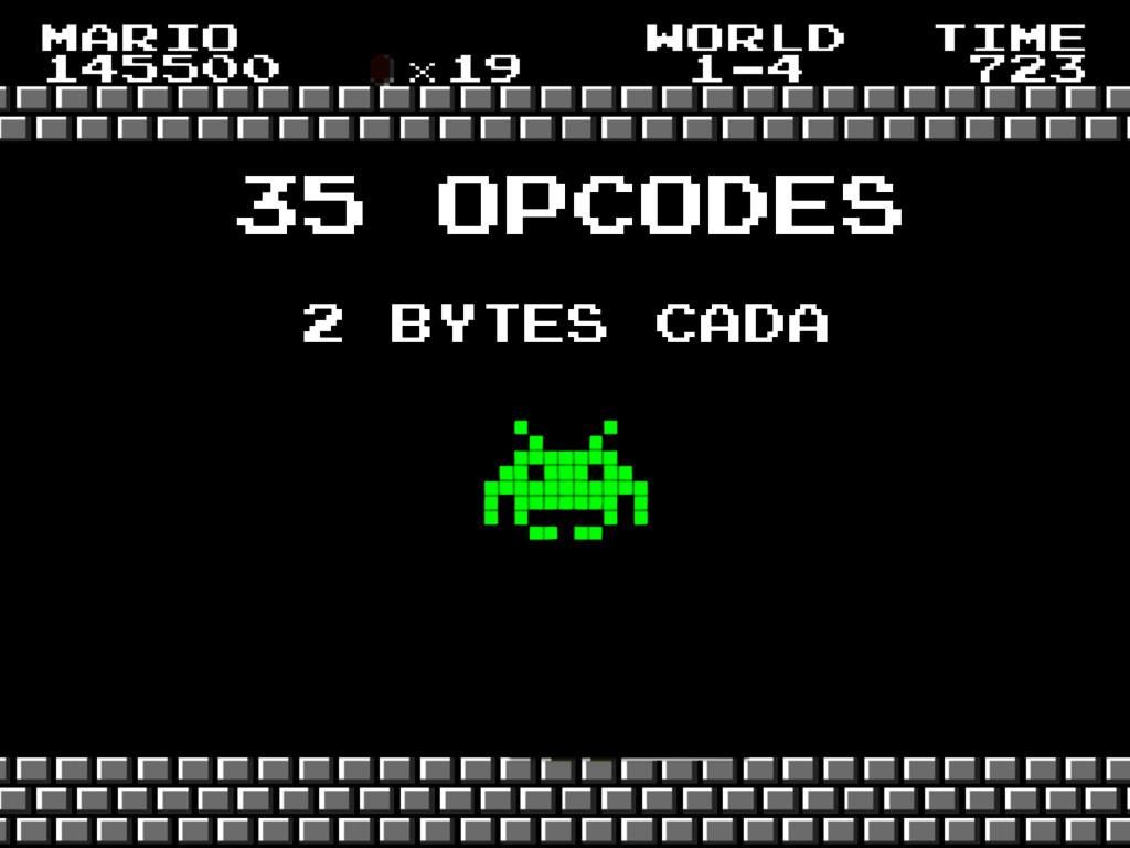 35 opcodes 2 bytes cada