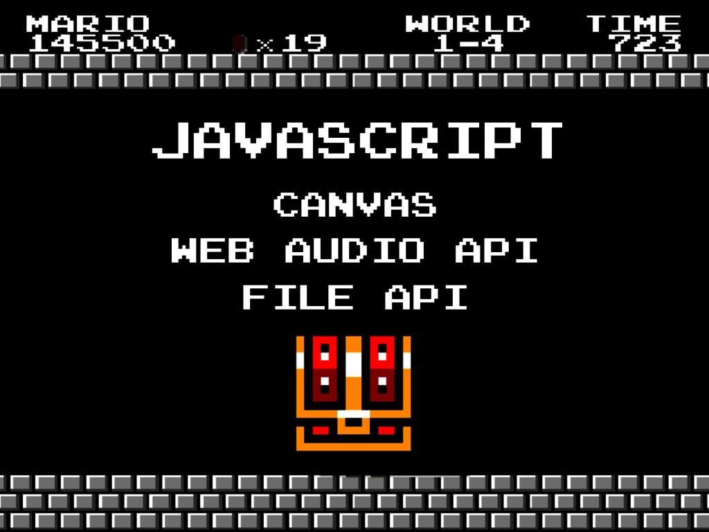 javascript canvas web audio api file api