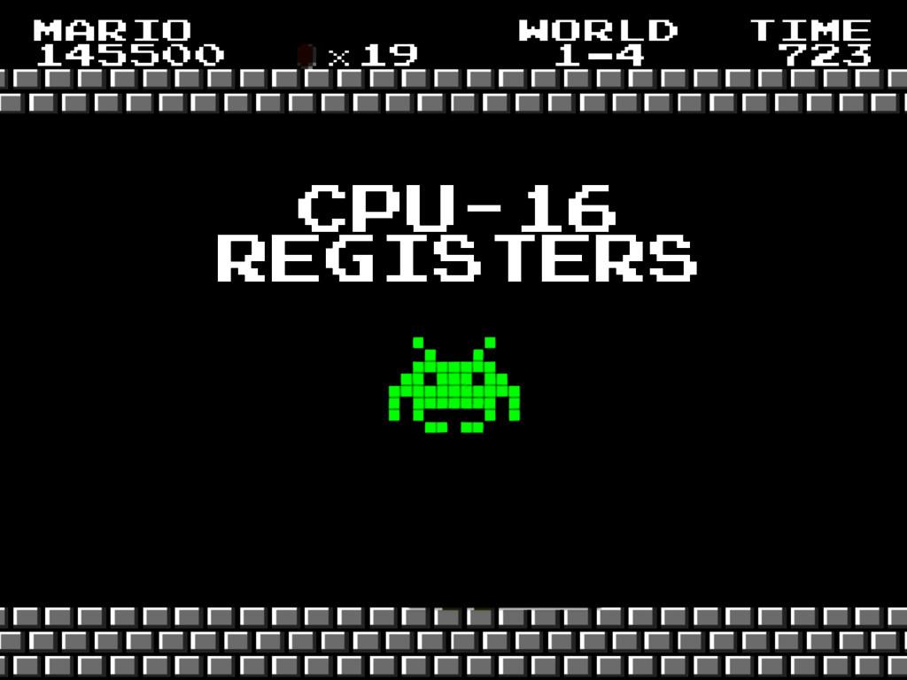 cpu-16 registers