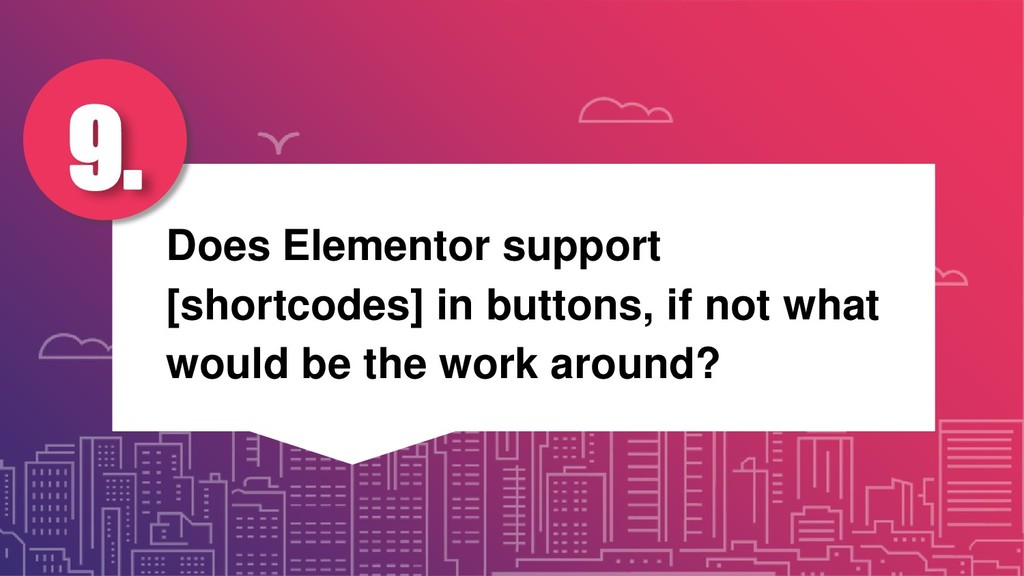 Does Elementor support [shortcodes] in buttons,...