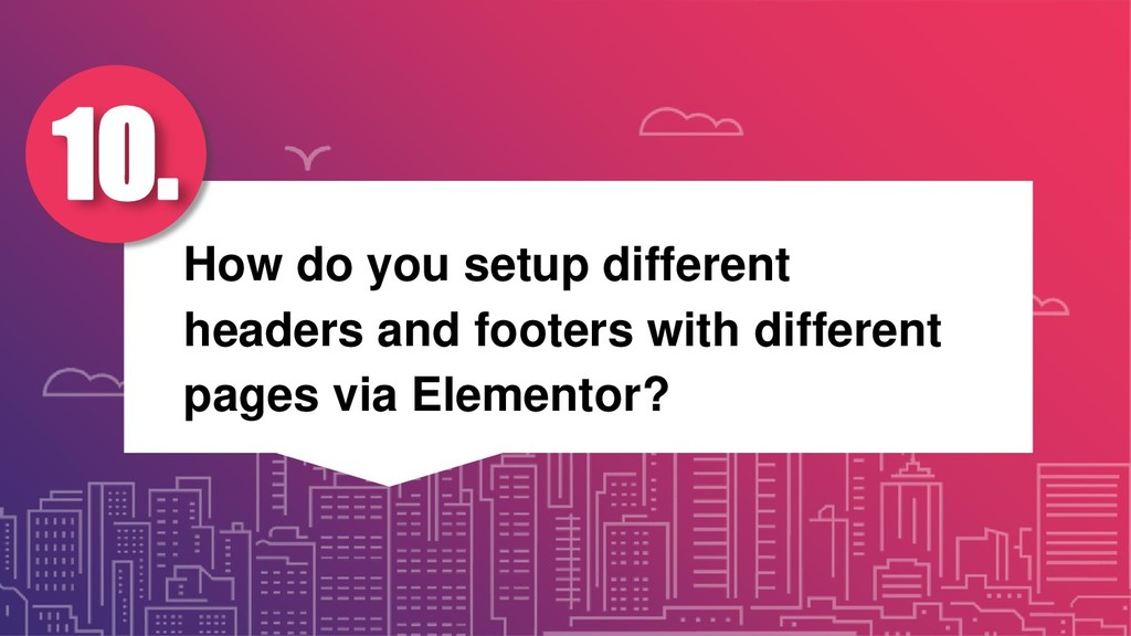 How do you setup different headers and footers ...
