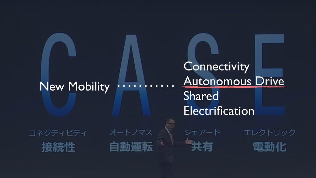 Connectivity Autonomous Drive Shared Electrifica...
