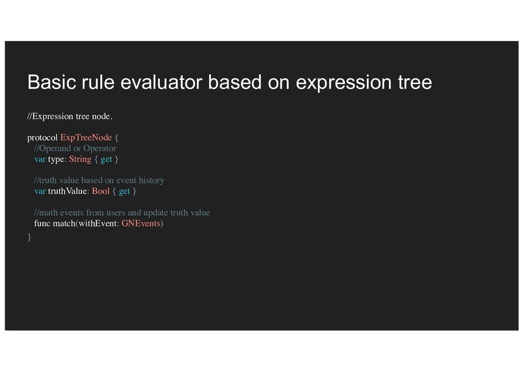 Basic rule evaluator based on expression tree /...