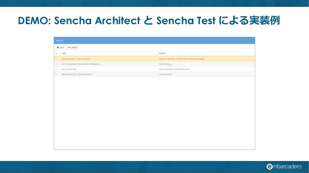 DEMO: Sencha Architect と Sencha Test による実装例