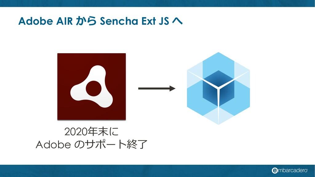 Adobe AIR から Sencha Ext JS へ 2020年末に Adobe のサポー...