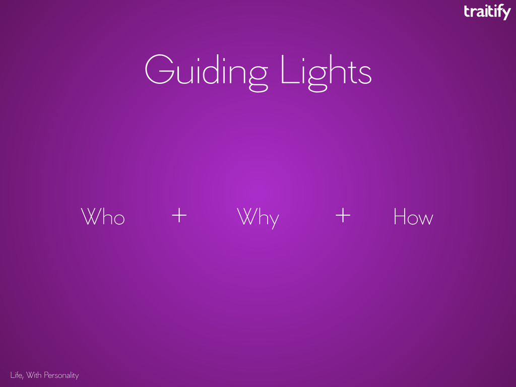 Life, With Personality Guiding Lights Why How W...