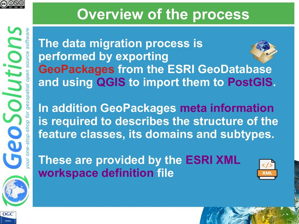 Overview of the process The data migration proc...
