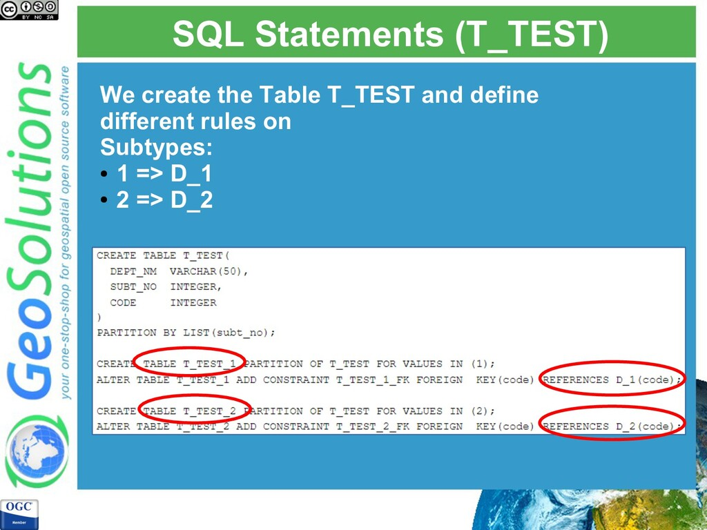 SQL Statements (T_TEST) We create the Table T_T...