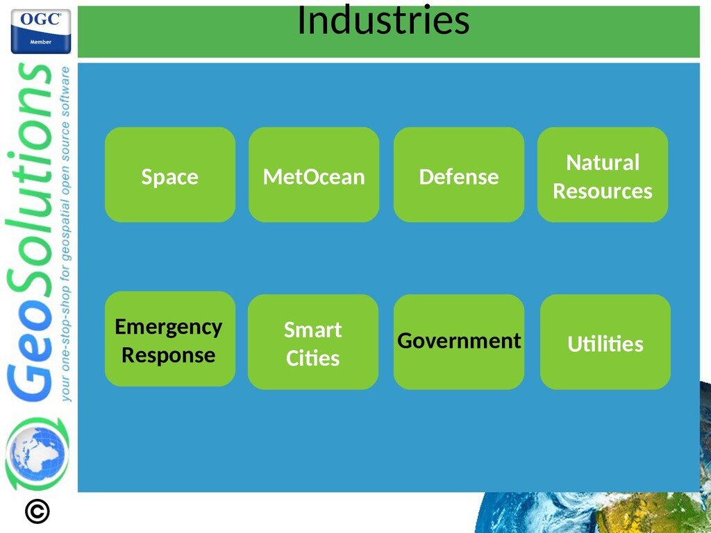Industries Smart Cites Space MetOcean Defense N...
