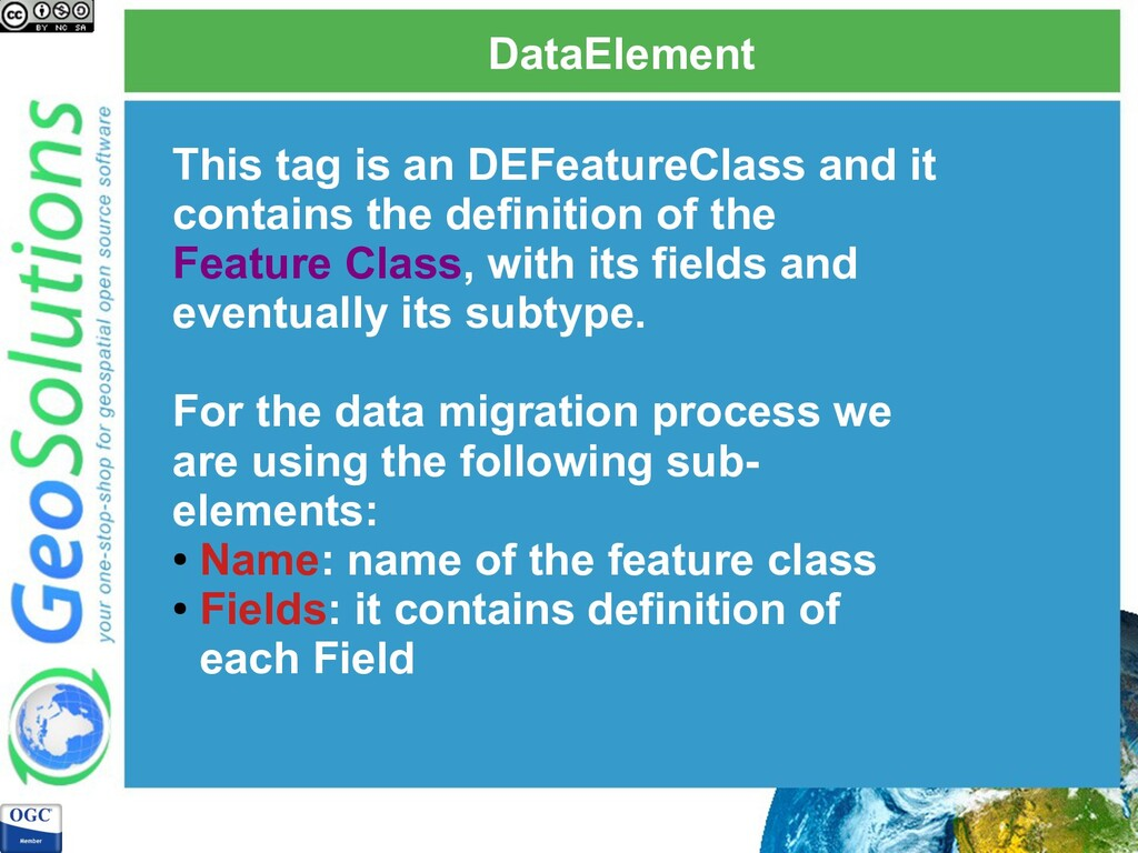 DataElement This tag is an DEFeatureClass and i...