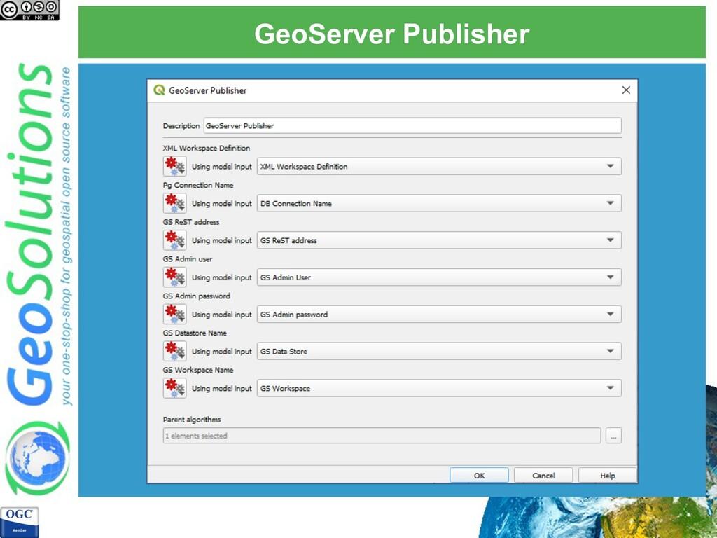 GeoServer Publisher