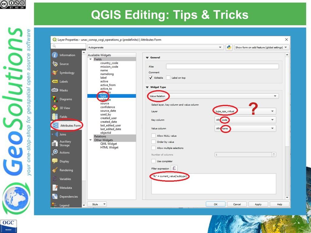 QGIS Editing: Tips & Tricks ?