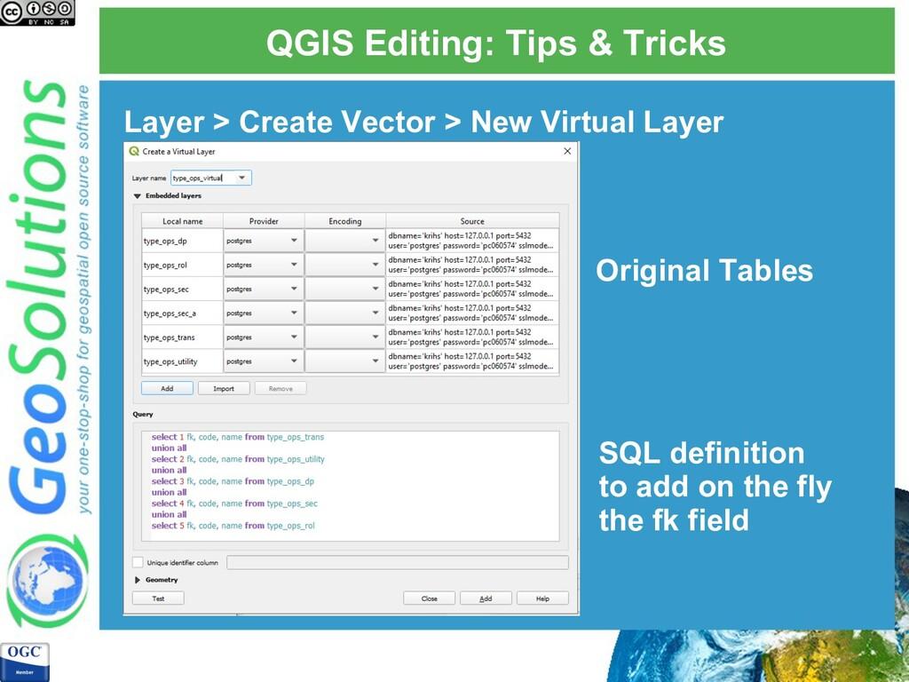 QGIS Editing: Tips & Tricks Layer > Create Vect...