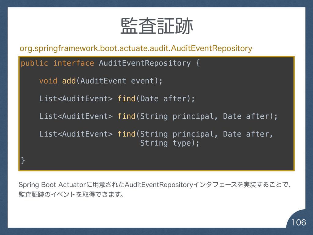 public interface AuditEventRepository { vo...
