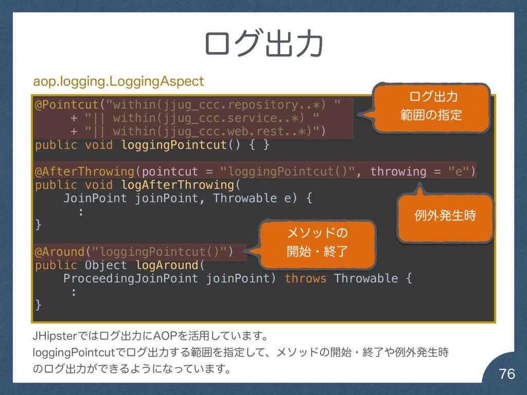 "ϩάग़ྗ @Pointcut(""within(jjug_ccc.repository....."