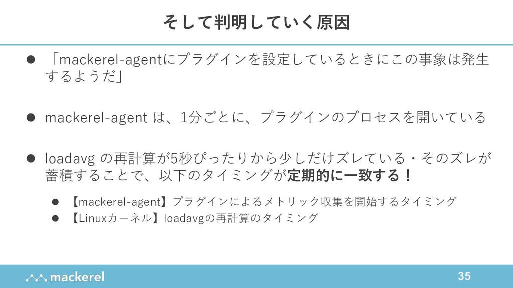 35 l 「mackerel-agentにプラグインを設定しているときにこの事象は発⽣ するよ...