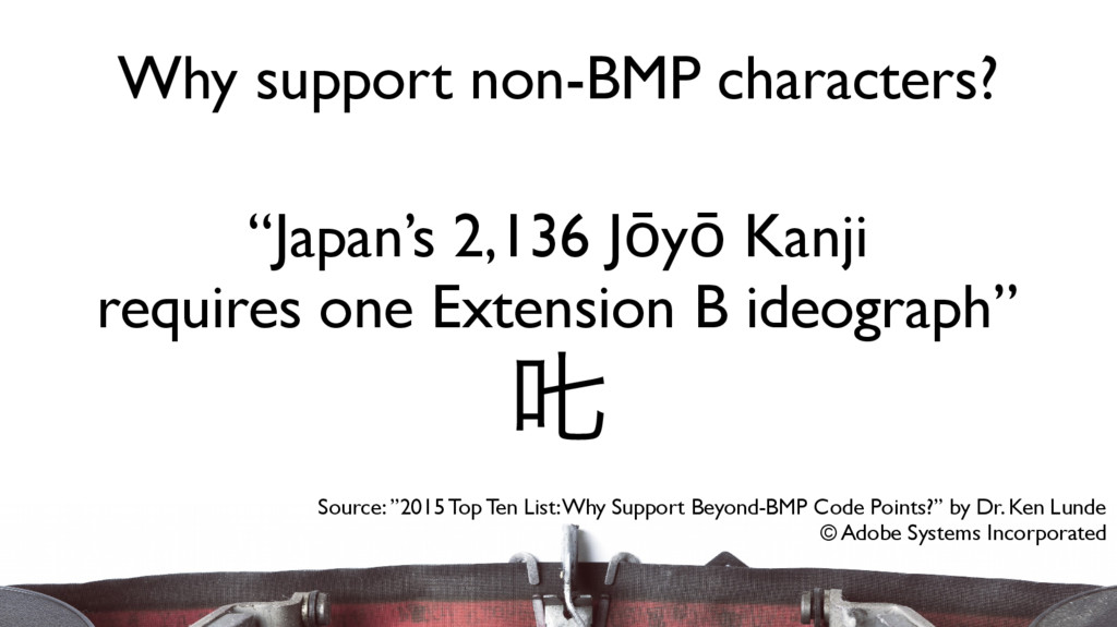 """Japan's 2,136 Jōyō Kanji requires one Extensio..."
