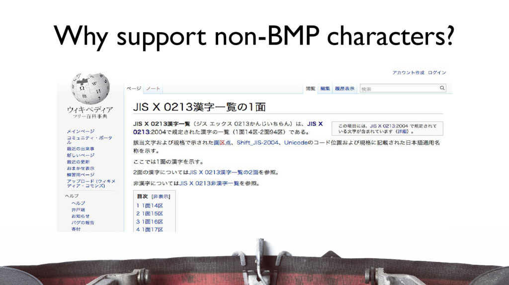 Why support non-BMP characters?