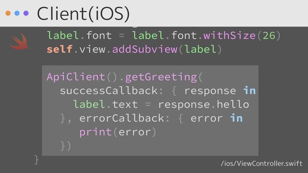 ) label.textAlignment = .center label.font = la...