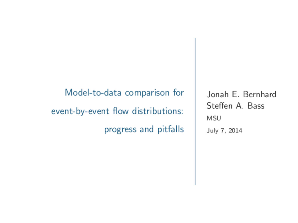 Model-to-data comparison for event-by-event flow...