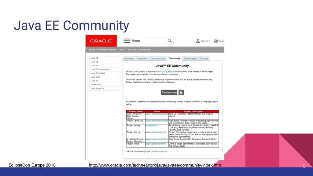 EclipseCon Europe 2018 Java EE Community 5 http...