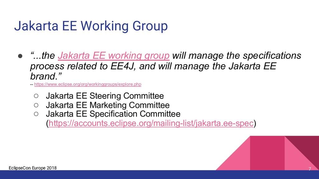 EclipseCon Europe 2018 Jakarta EE Working Group...