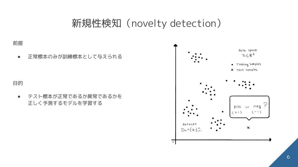 新規性検知(novelty detection) 前提 ● 正常標本のみが訓練標本として与えら...