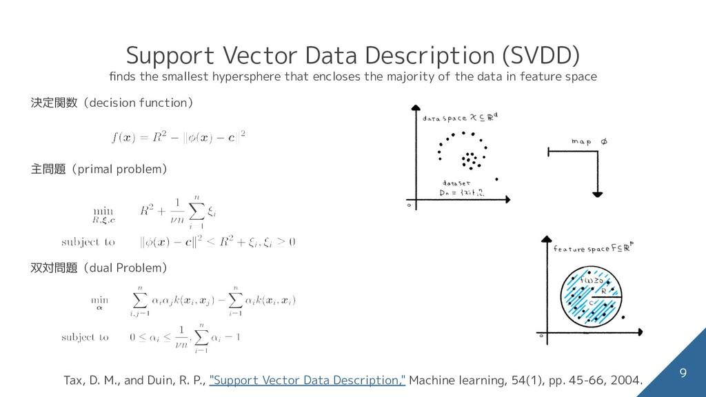 Support Vector Data Description (SVDD) finds the...