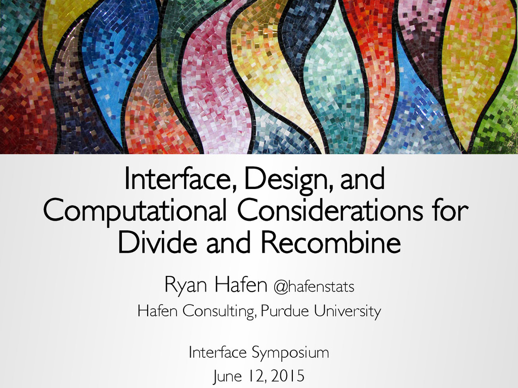 Interface, Design, and Computational Considerat...