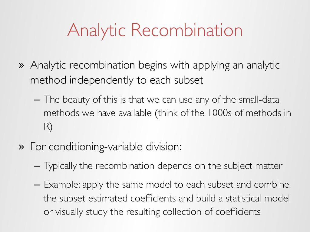 Analytic Recombination » Analytic recombinatio...