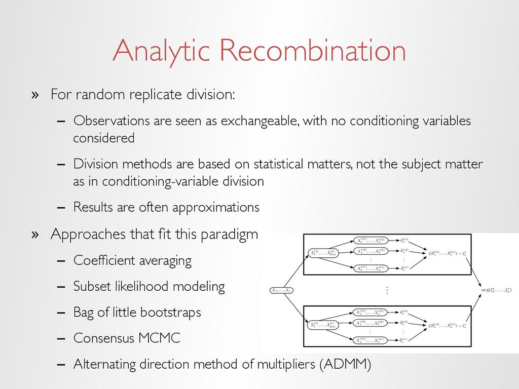 Analytic Recombination » For random replicate ...