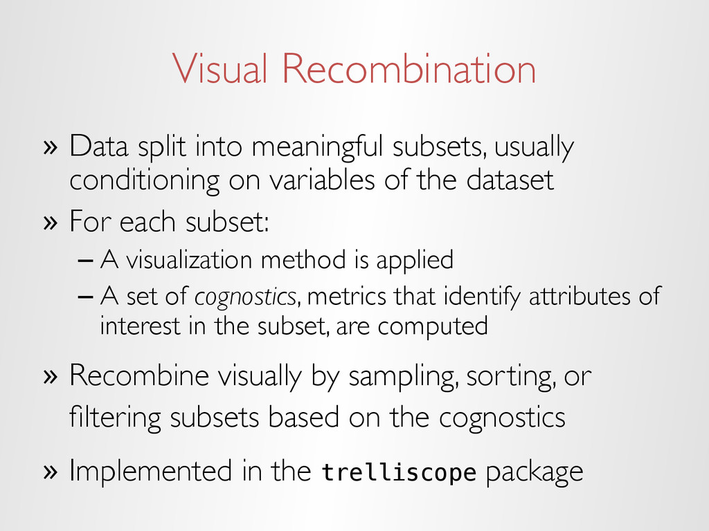 Visual Recombination » Data split into meaning...