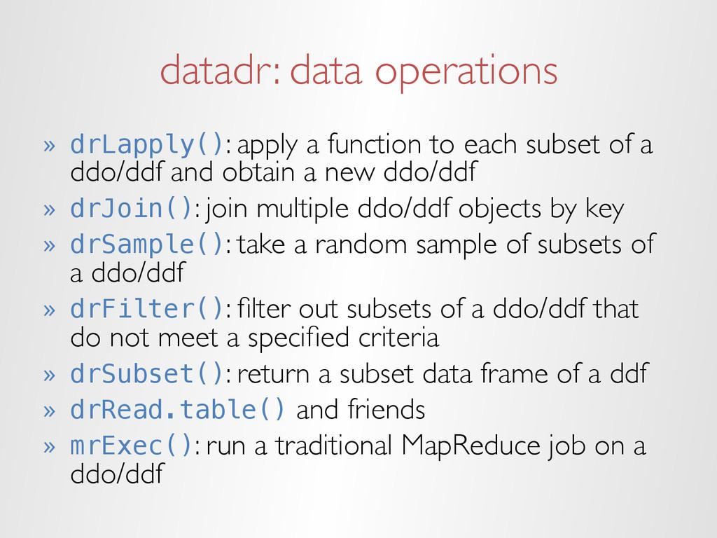 datadr: data operations » drLapply(): apply a ...