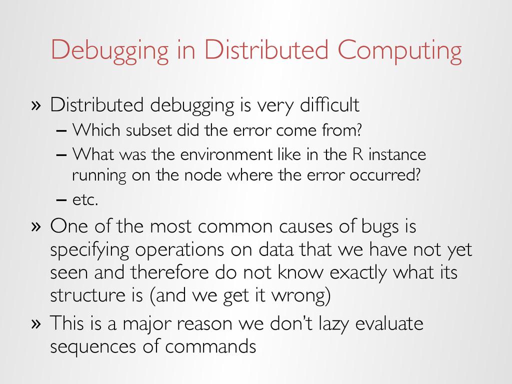 Debugging in Distributed Computing » Distribut...