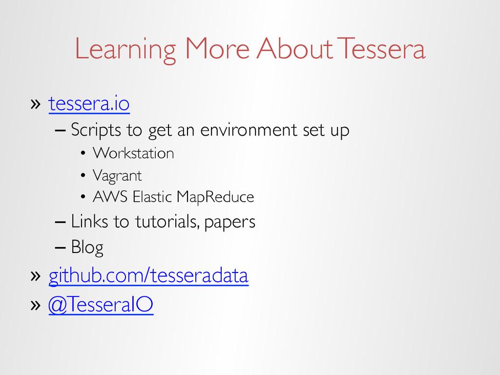 Learning More About Tessera » tessera.io –Scr...
