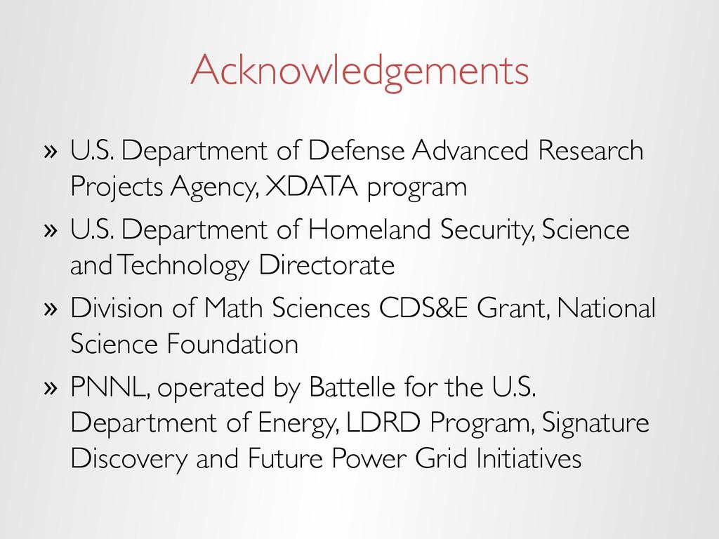 Acknowledgements » U.S. Department of Defense ...