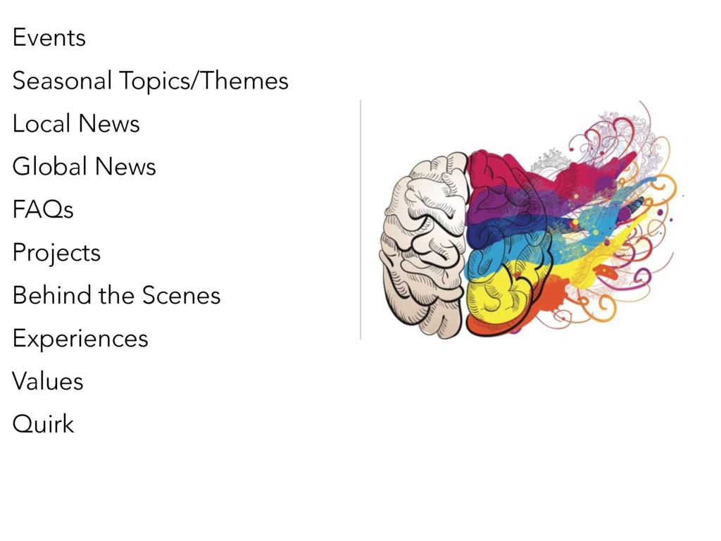 Events Seasonal Topics/Themes Local News Global...