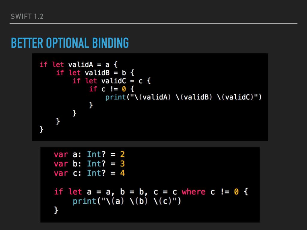 SWIFT 1.2 BETTER OPTIONAL BINDING