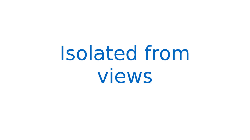 Isolated from views