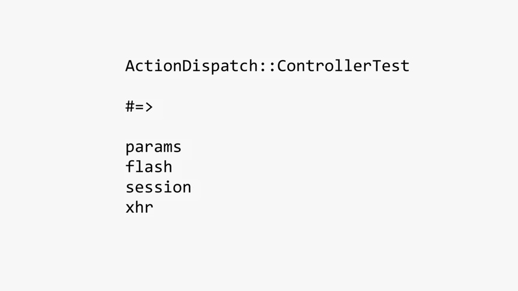 ActionDispatch::ControllerTest #=> params flash...