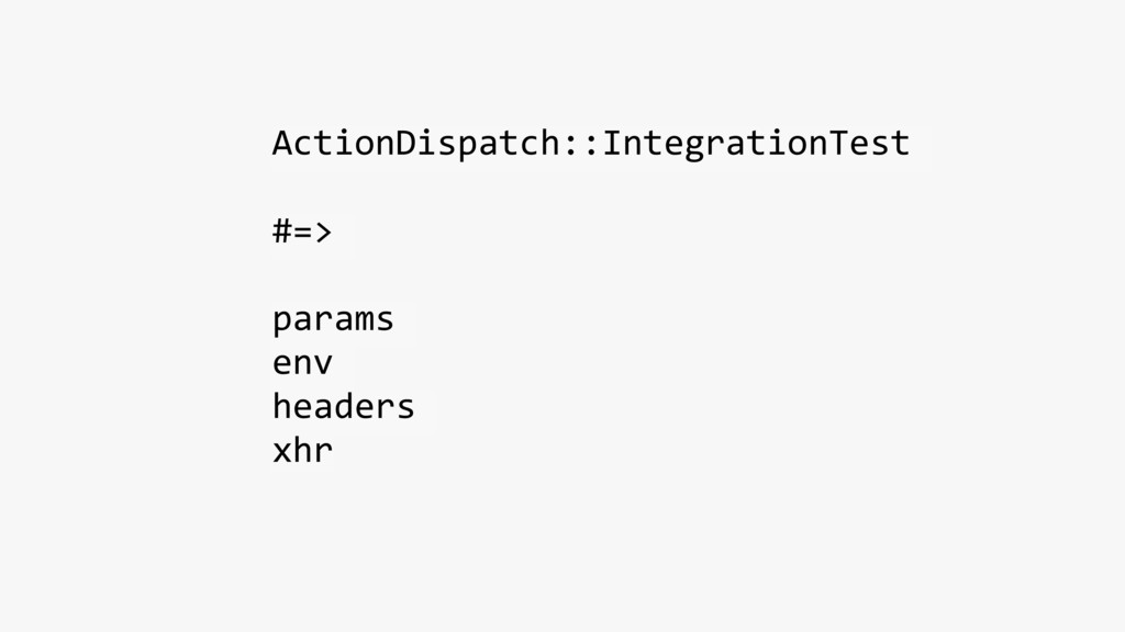 ActionDispatch::IntegrationTest #=> params env ...