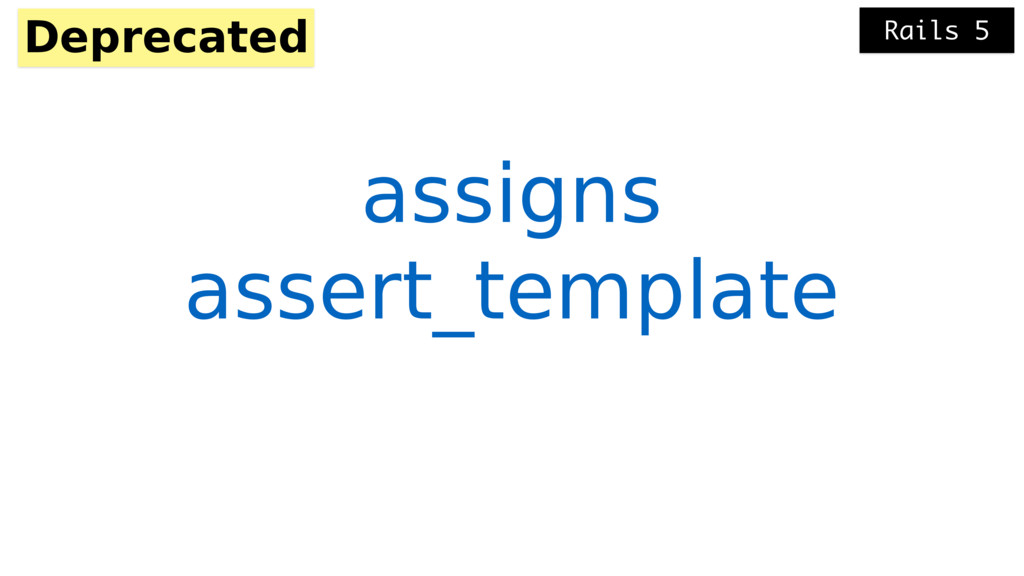 assert_template Deprecated assigns Rails 5