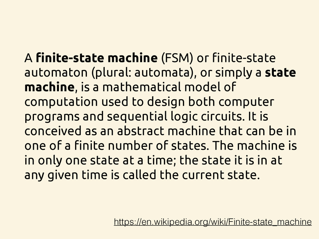 A finite-state machine (FSM) or finite-state au...