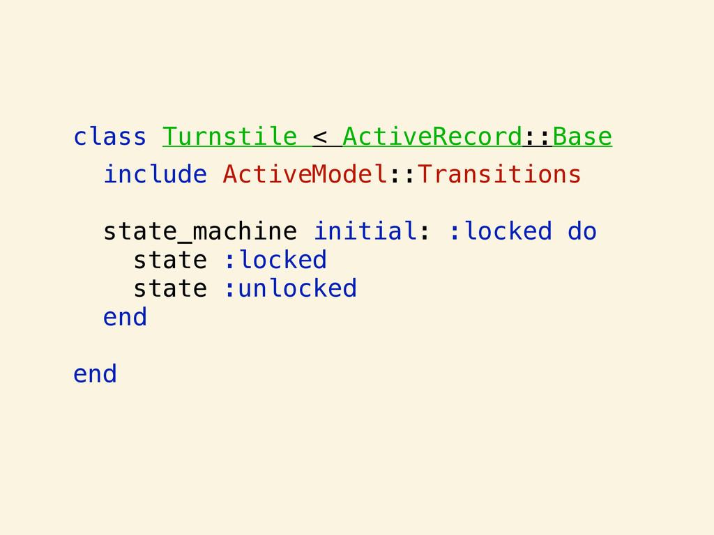 class Turnstile < ActiveRecord::Base include Ac...