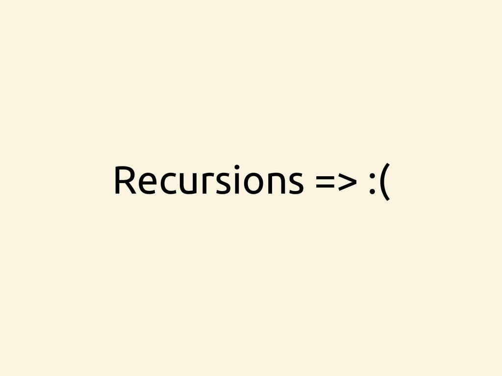 Recursions => :(