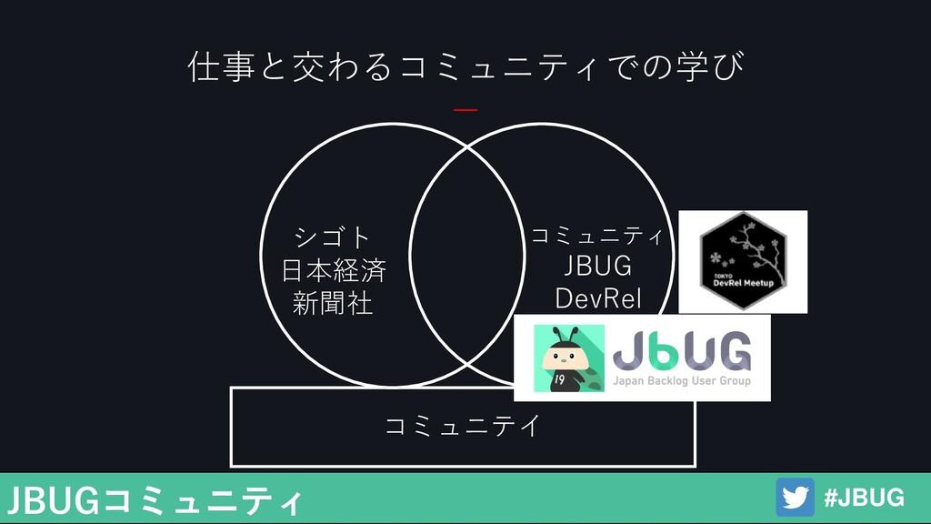 仕事と交わるコミュニティでの学び シゴト 日本経済 新聞社 コミュニティ JBUG DevRe...