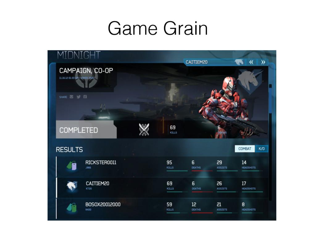 Game Grain