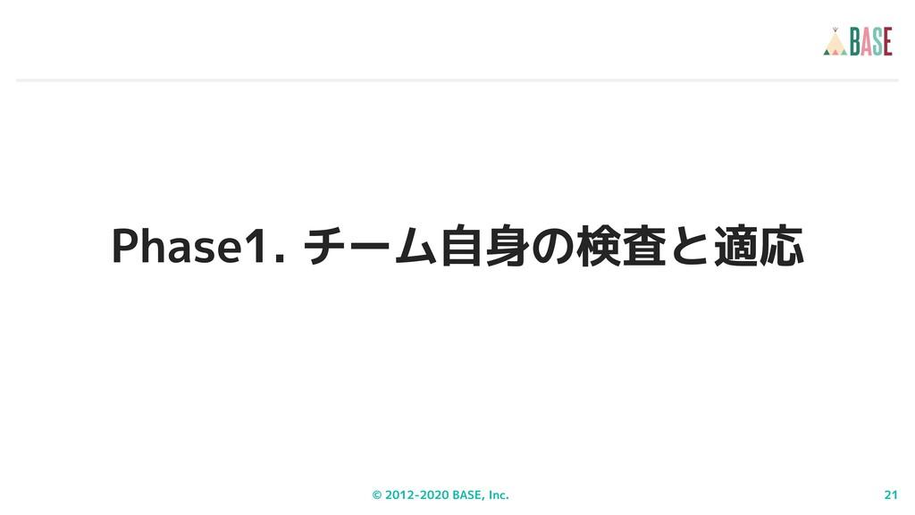 © 2012-2020 BASE, Inc. 21 Phase1. チーム自身の検査と適応